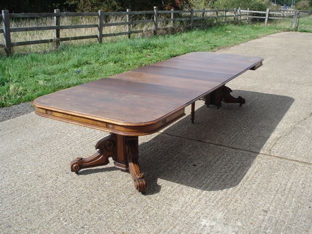 table 12ft victorian walnut extending pedestal dining table to seat 14