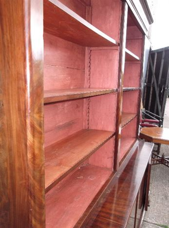 Large Antique Library Bookcase - Early 19th Century Mahogany Library Bookcase