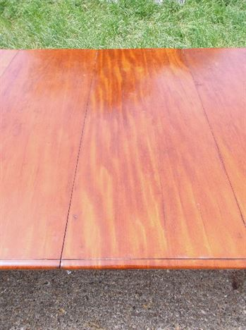 Large Antique Mahogany Dining Table - William IV Period 3 Metre Mahogany Extending Dining Table With Faceted Legs