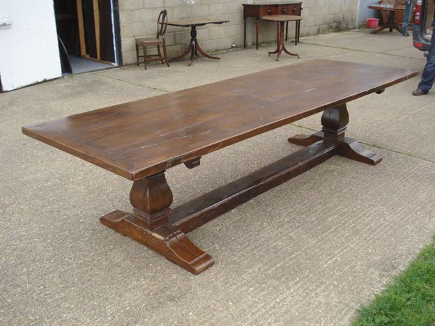 Antique Furniture Warehouse Large Antique Oak Refectory