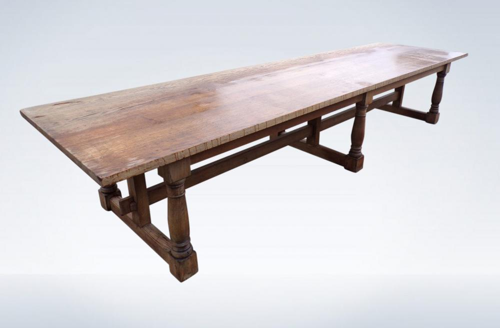 Large Antique Oak Refectory Table 4 Metres Long Hunt Table