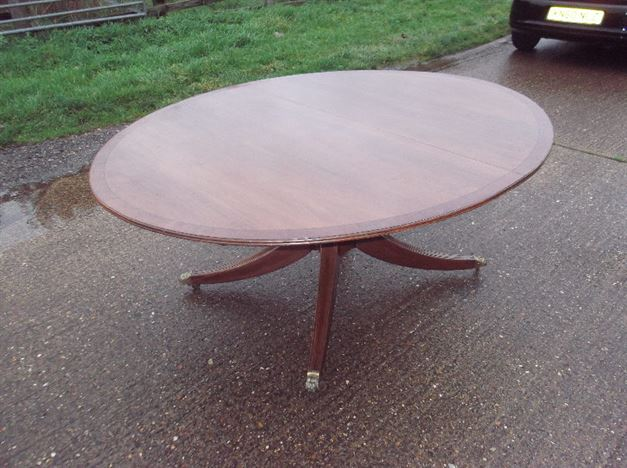 Antique furniture warehouse large antique oval dining for 6ft round dining table