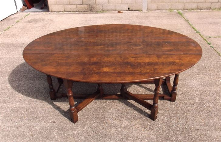 ANTIQUE FURNITURE WAREHOUSE Large Antique Oval Oak Table  : large antique oval oak table georgian revival oval oak dining table to seat up to 12 people 1142 P1 from www.elisabethjamesantiques.co.uk size 934 x 600 jpeg 136kB