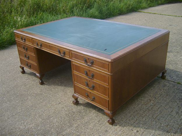 Antique Furniture Warehouse Large Antique Partners Desk