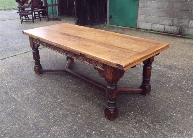 Antique Furniture Warehouse Large Antique Refectory