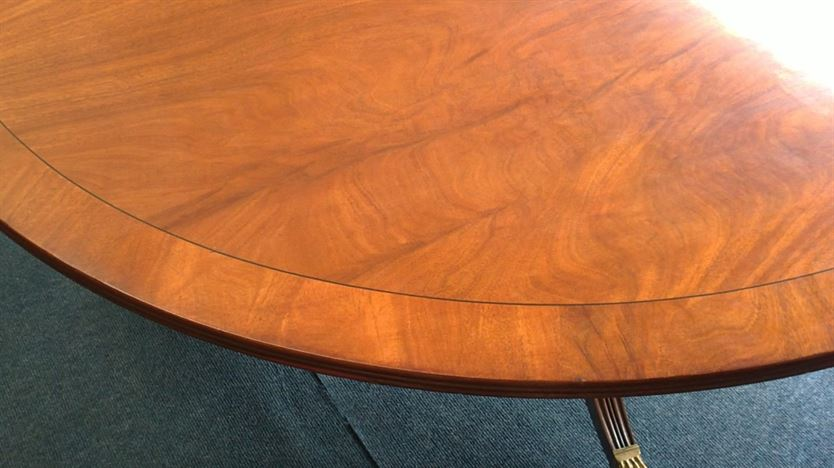 Large Antique Round Table   6ft Diameter Regency Revival Mahogany Pedestal  Dining Table To Seat 10