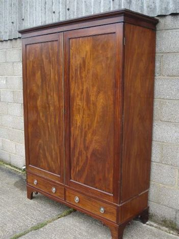 Large Georgian Mahogany Wardrobe Georgian Mahogany Double Wardrobe