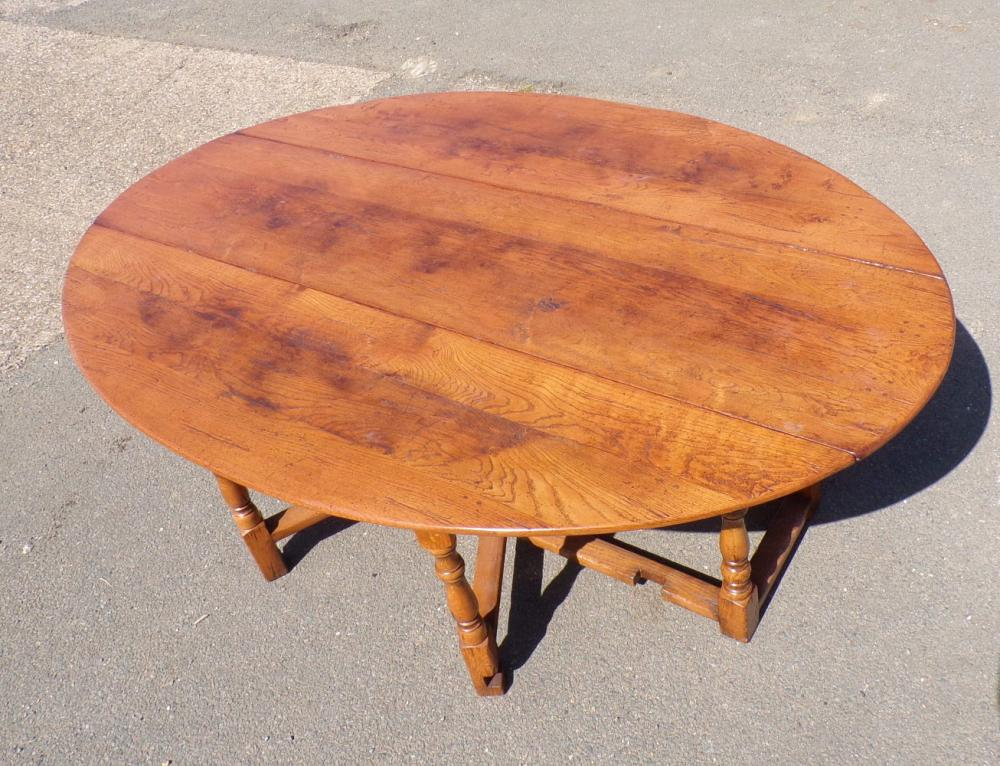 Large Oval Antique Country Oak Farmhouse Table – Georgian Wake Table Design