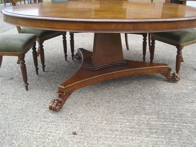 Antique furniture warehouse large round dining table for 6 foot round dining table