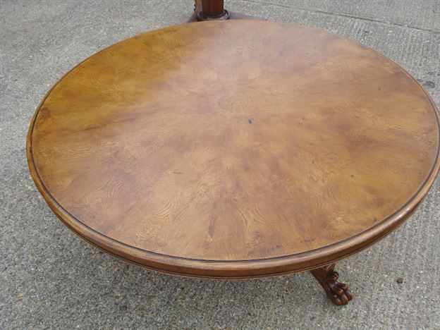 Antique furniture warehouse large round dining table for 10 foot round table