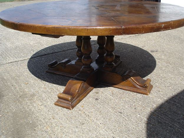 Antique Furniture Warehouse Large Round Walnut Dining