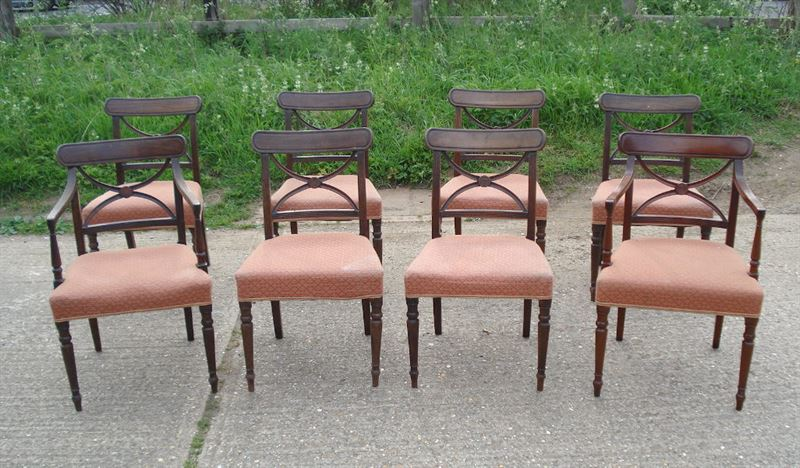 Large Set Of Antique Dining Chairs