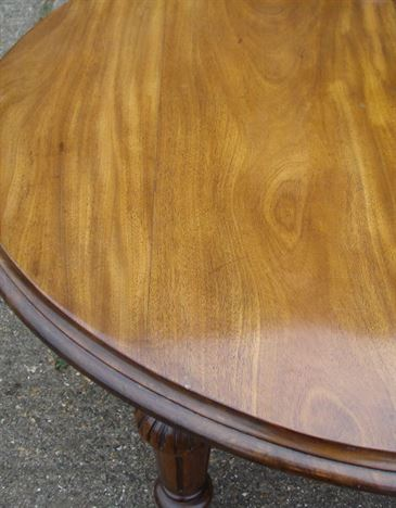Large Victorian Mahogany Dining Table - 10ft 3 Metre Victorian D Ended Extending Table To Seat 12 To 14 People