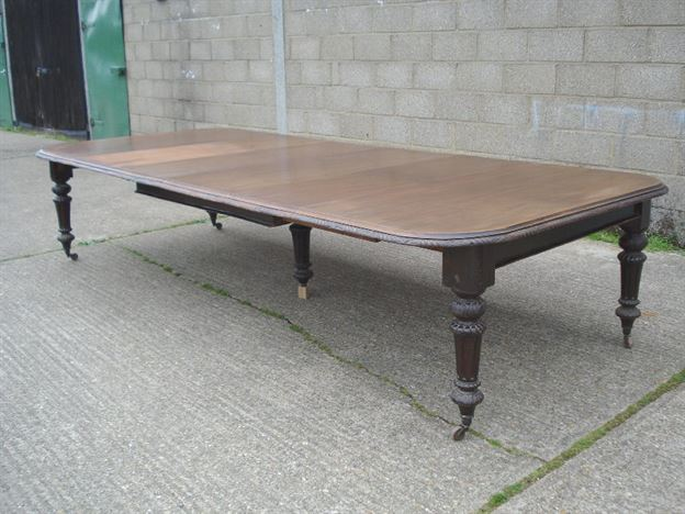 Antique furniture warehouse large victorian mahogany for 14 seater dining table