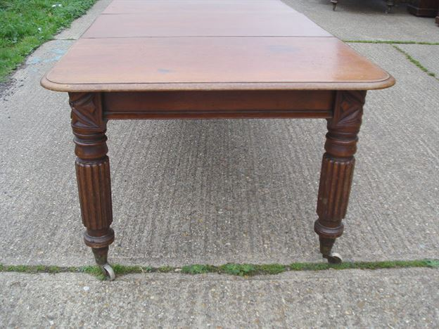 Narrow Antique Dining Table Long Narrow Early Victorian Mahogany