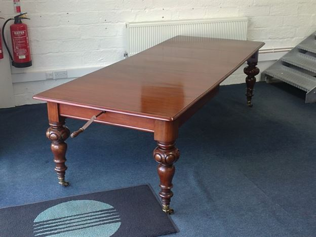ANTIQUE FURNITURE WAREHOUSE Narrow William IV Mahogany Dining Table 9ft W