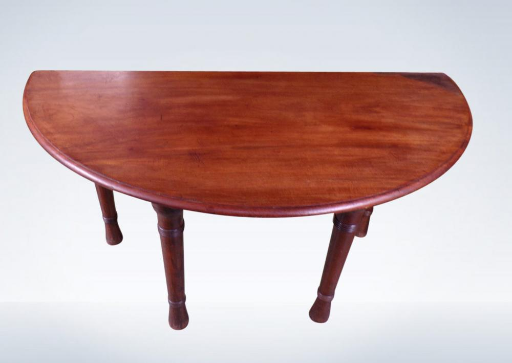 Pair Regency Demi Lune Console Serving Or Hall Tables