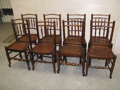 Antique Furniture Warehouse Period Oak Country Chairs 8