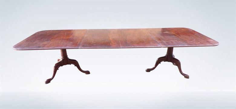 Regency 10ft Twin Pedestal Extending Mahogany Dining Table