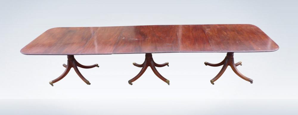 Regency Pedestal Dining Table Triple Pedestal Mahogany To Seat Up To 16 People