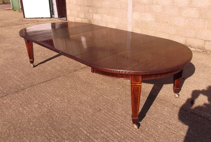 Round Extending Antique Dining Table