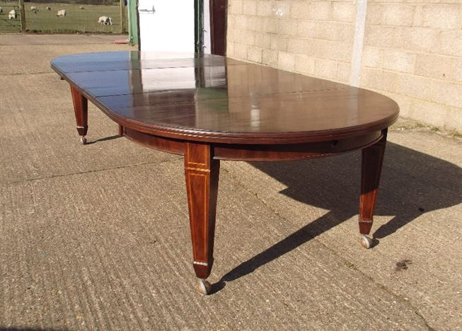 Antique furniture warehouse round extending antique for 12 seat round dining table