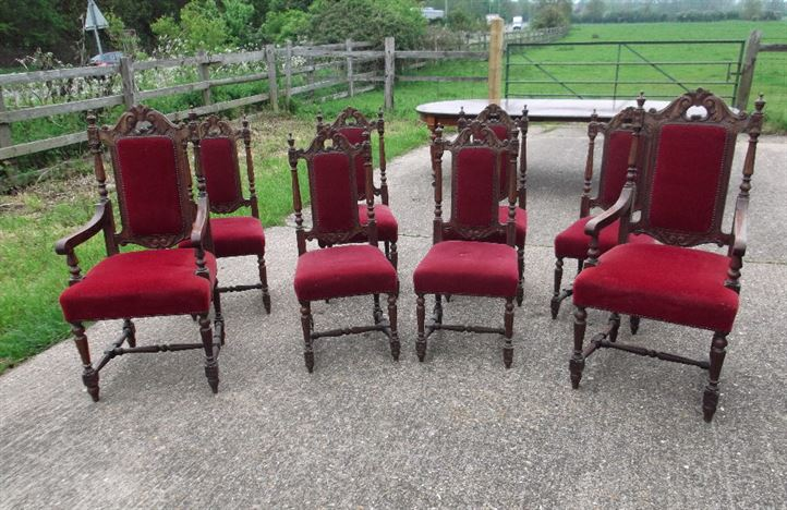 set of 8 antique dining room chairs. dining room appealing antique