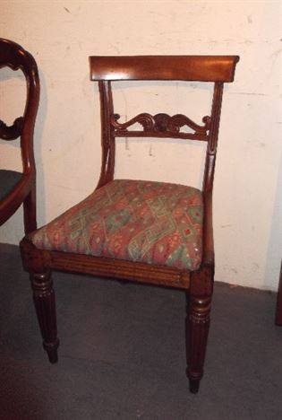 Set Six Georgian Dining Chairs - Set 6 Regency Period Bar Back Dining Chairs With Gillows Reeded Legs