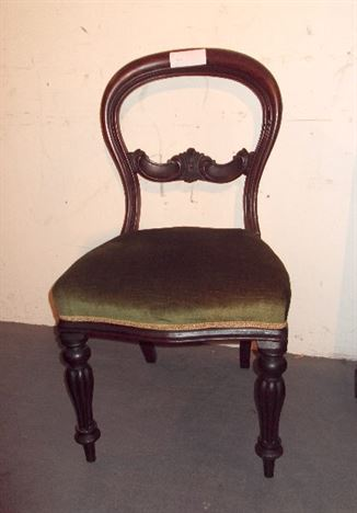 Ordinaire Set Six Victorian Balloon Chairs   Set 6 Early Victorian Mahogany Balloon  Back Dining Chairs With Reeded Legs