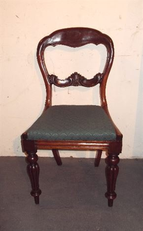 Antique Furniture Warehouse Set Six Victorian Chairs