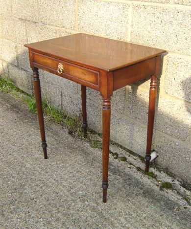 Antique furniture warehouse small georgian table small for Small side table with drawers