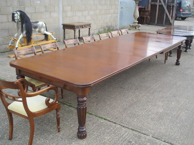 Very Large Antique Dining Table   14ft Early Victorian Mahogany Extending Dining  Table To Comfortably Seat 16 PeopleANTIQUE FURNITURE WAREHOUSE   Very Large Antique Dining Table  . Antique Dining Tables For Sale Uk. Home Design Ideas