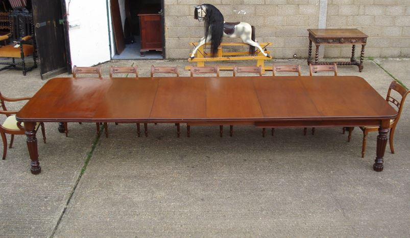 dining table 14ft early victorian mahogany extending dining table to