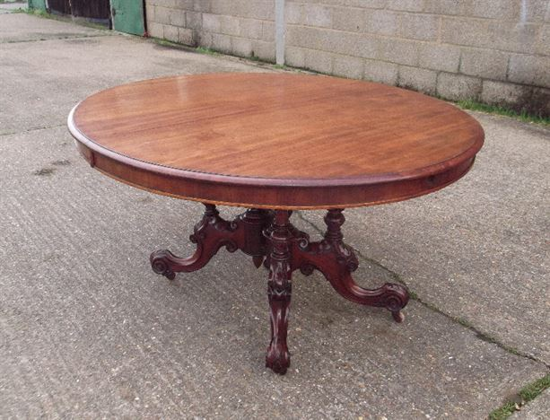 ANTIQUE FURNITURE WAREHOUSE Victorian Oval Extending  : victorian oval extending table large oval formed pedestal based table extending to 8ft length seating 10 comfortably 1192 P1 from www.elisabethjamesantiques.co.uk size 787 x 600 jpeg 136kB